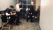 Behind The Scenes - Season Two - Amy Holden Jones Twitter - 2x02 The Cast In Their Chairs