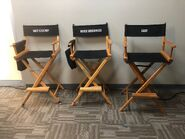 Behind The Scenes - Season Two - Amy Holden Jones Twitter - 2x02 Cast Chairs
