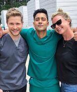 Behind The Scenes - Season Three - Manish Dayal Instagram - 3x01 Matt, Manish and Emily