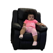 Clear baby on chair