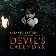 Satanic Easter card
