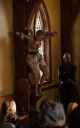 Mercy hanged in the church