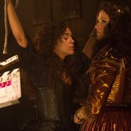 Ashley Madekwe and Lucy Lawless 212 behind the scenes