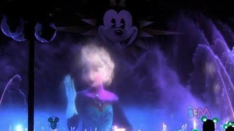 """FULL """"Frozen"""" World of Color segment with """"Let It Go"""" by Idina Menzel at Disneyland Resort-0"""