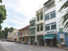 The relative position of Rairua amongst the shophouses along Neil Road.