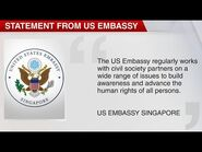 CNA- MFA reminds US embassy not to interfere with domestic matters after LGBT webinar with Oogachaga