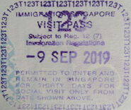 Singapore Entry Stamp