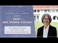 "IPS Nathan Lecture III- ""Reset- Men, Women, Violence"""