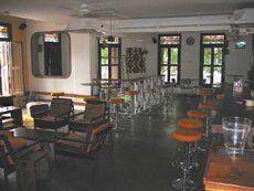 Interior of MOX Bar & Cafe.