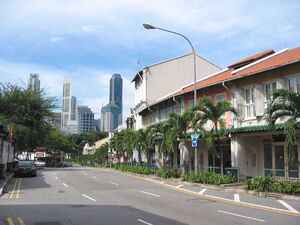 Row of shophouses along Neil Road in which Taboo is located.