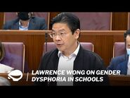Lawrence Wong on gender dysphoria in schools