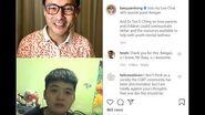 Baey Yam Keng talks to transman Keegan during his Instagram Live Chat, 27 September 2020