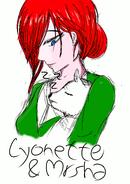Lyonette and Mrsha by Chalyon