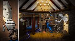 Cogntita breaking into Aarons Room by MG