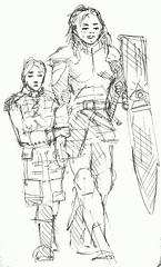 Durene Laken sketch by mg