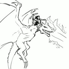 Rags on Wyvern by MG