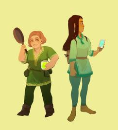 Erin and Ryoka by Evionth