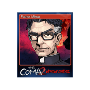 The Coma 2 trading card 10 Father Minsu