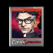 The Coma 2 trading card 10 Father Minsu foil