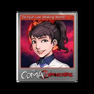 The Coma 2 trading card 03 Da-hyun Lee (Waking World) foil