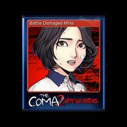 The Coma 2 trading card 01 Battle Damaged Mina