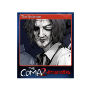 The Coma 2 trading card 14 The Noteman