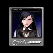The Coma 1 Recut trading card 01 Yaesol Han foil