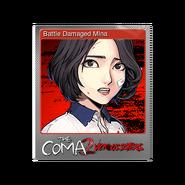 The Coma 2 trading card 01 Battle Damaged Mina foil
