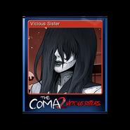 The Coma 2 trading card 11 Vicious Sister