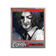 The Coma 2 trading card 14 The Noteman foil