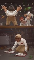 Bar fight by Jeinu