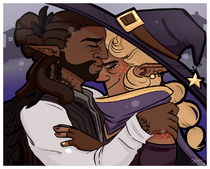 Kravitz and Taako by Elf-Eared