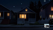 Watterson house at night