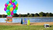 Grabbing balloons lol