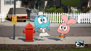 Gumball and anais at le bus stahp