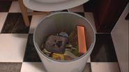 Antone in the trash