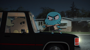 Gumball Watterson is mad at Patrick Fitzgerald on The Shell