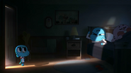 Gumball in his parents room