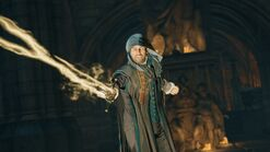Germain usando la Espada del Edén