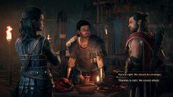 Alexios elige entre Kyra y Tharabas