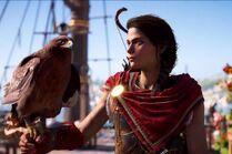 Kassandra y su ave
