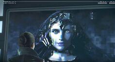 Violet da Costa habla con Juno.JPG