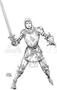 Juana de Arco con la Espada