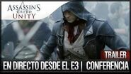 Assassin's Creed Unity Premiere Tráiler E3 2014 Español Introduction Conference Ubisoft