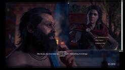 Kassandra discute con Sócrates