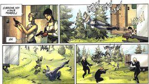 Lucy y Rebecca disparando.JPG