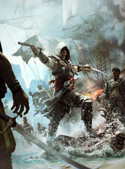 Assassin's Creed 4 Black Flag cover art by TwoDots
