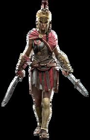 Kassandra con casco