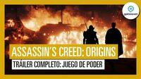 "Assassin's Creed Origins Tráiler Gameplay ""Juego de Poder"" del Gamescom 2017"