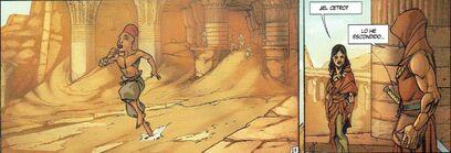 Ali huye con el Cetro de Aset